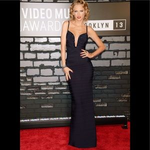 Herve Leger by Max Azria Black Gown